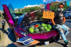 watermelons lamborghini video turkey Instagram influencer Tavakolian