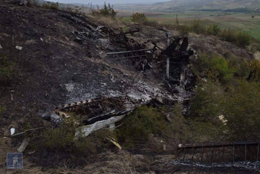 Martuni Air force plane jet Azerbaijan shot down Artsakh Defense Army