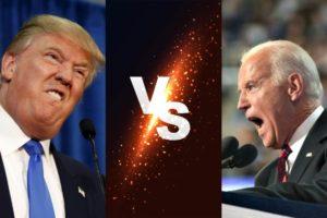 Trump Biden Debate Plexiglass
