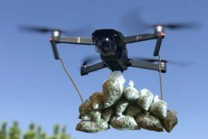 Drone drops weed Tel Aviv Israel video