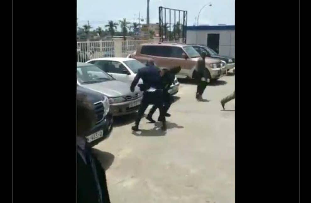 President Guinea Beating Minister Fake News