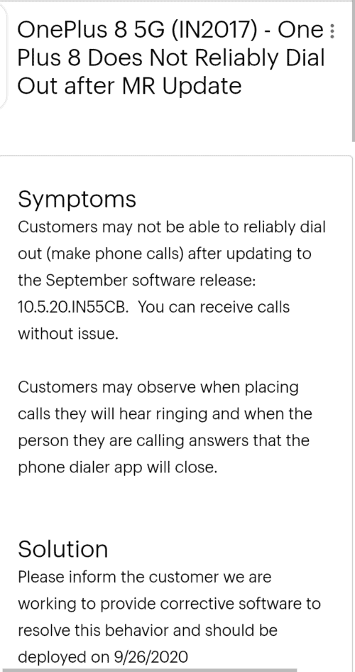Sprint addresses the Calls Dropping Issue On OnePlus 8