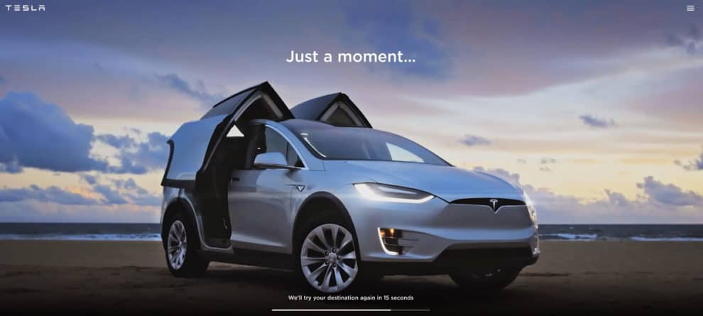 Tesla network outage, internal systems down