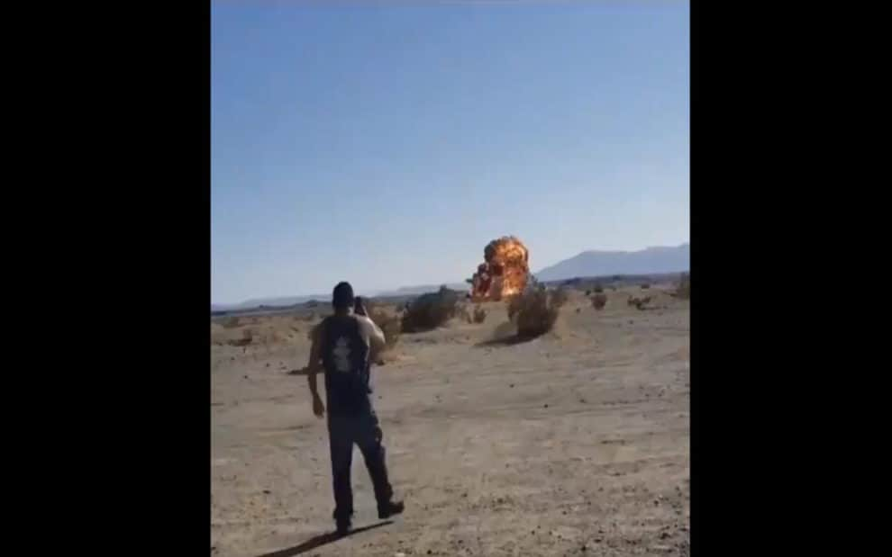 Video F-35B jet crash Imperial County California