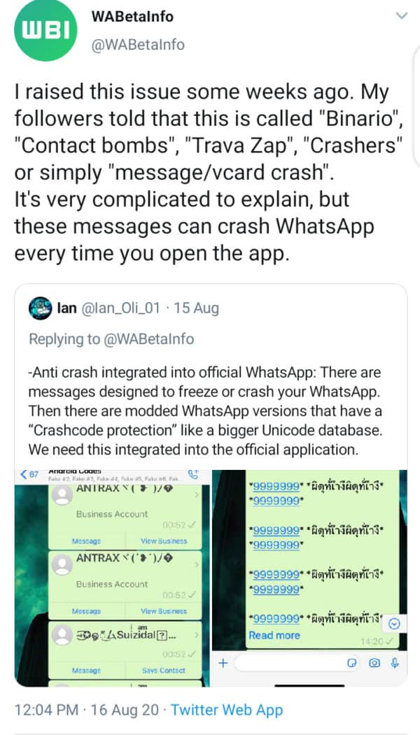 whatsapp crash freeze issue iphone