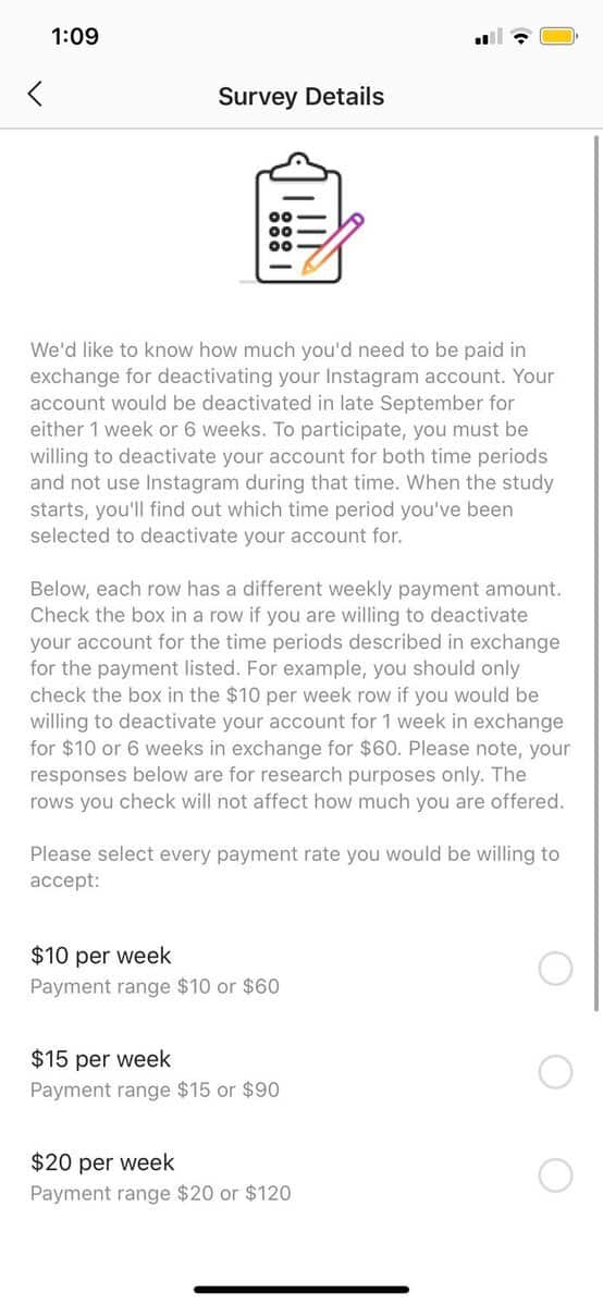 facebook paying users deactive accounts