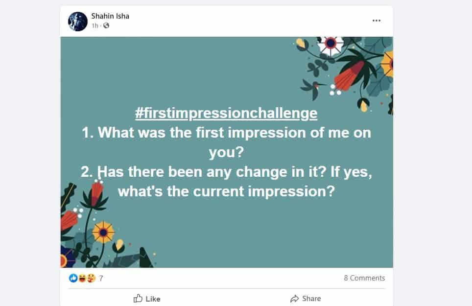 first impression challenge #firstimpressionchallenge