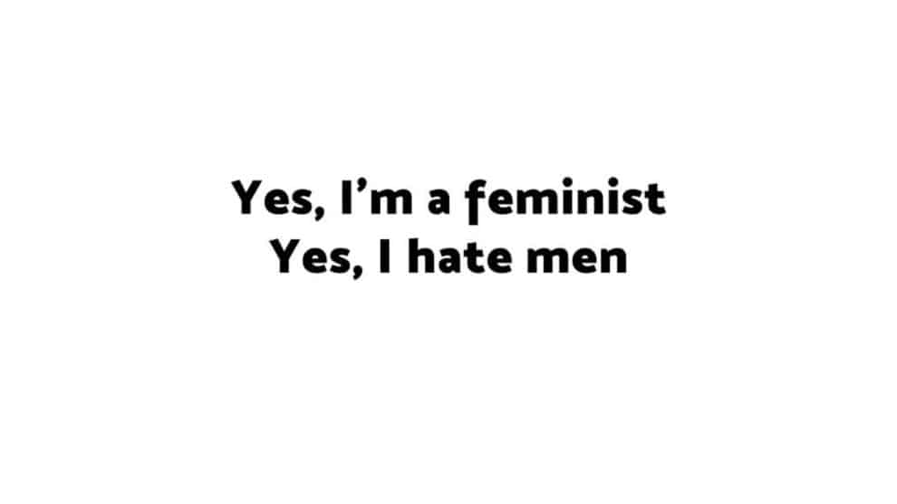 I hate men Feminist Book France
