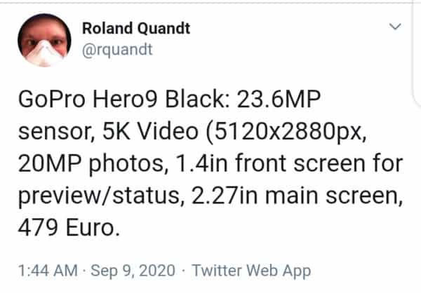 GoPro Hero 9 price and features