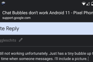 Chat bubble Feature Android 11 Not Working Google Messages App