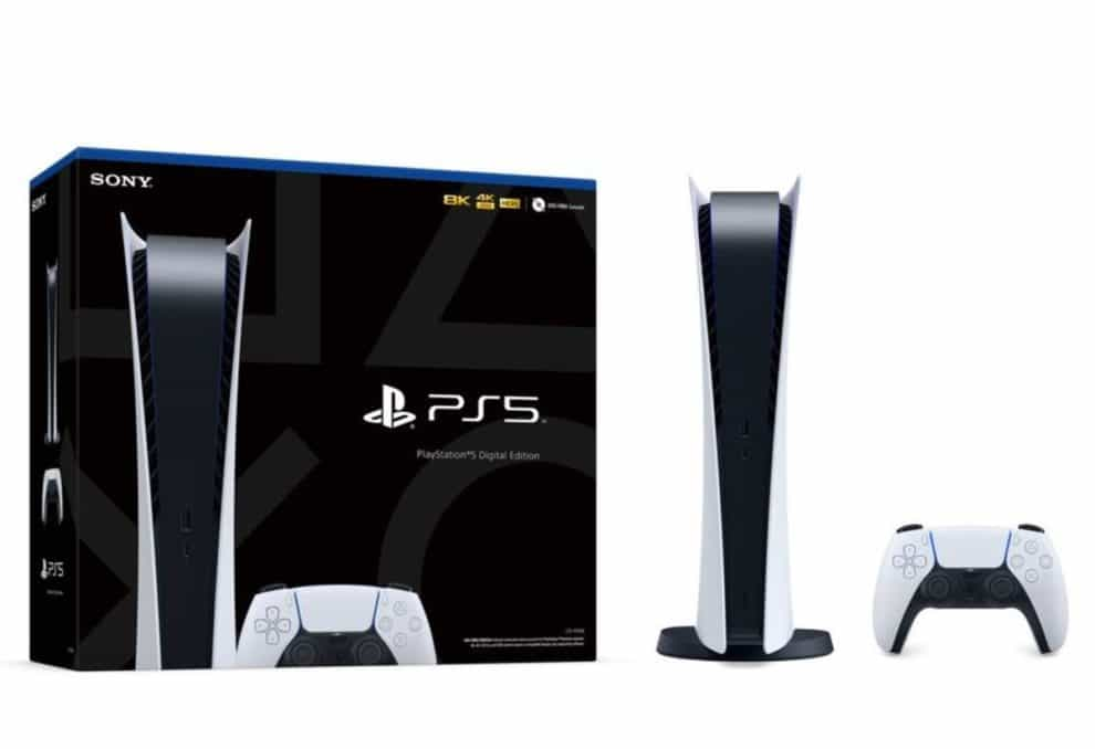 PS5 retail box comes with a black color