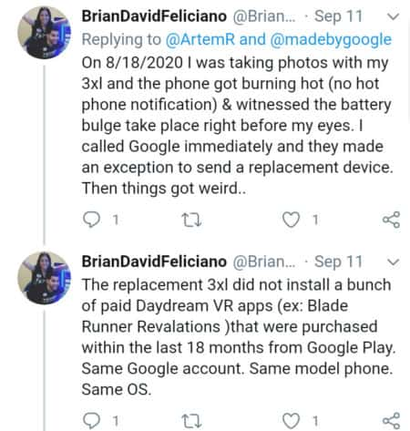 google pixel 3 battery swelling