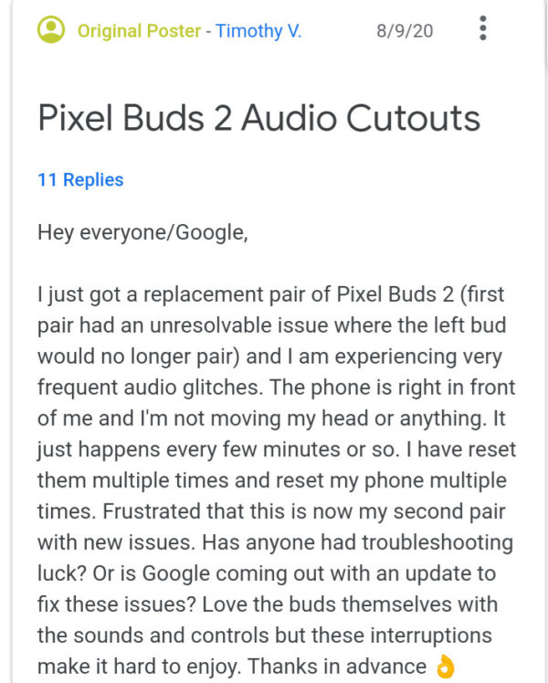 Audio Cutouts and Battery Drain still persists on the replaced earbuds