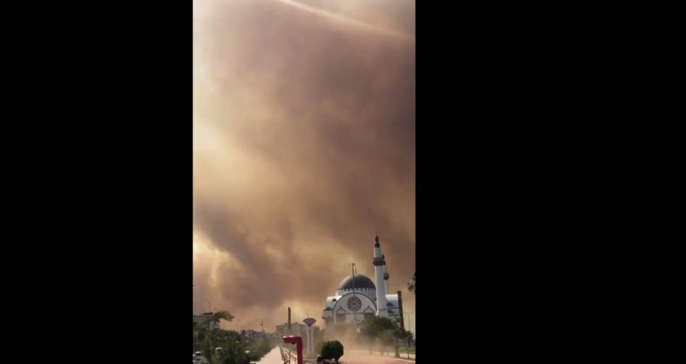 Video wildfires Hatay turkey