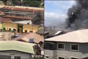 Ikoyi prison fire jailbreak Lagos video