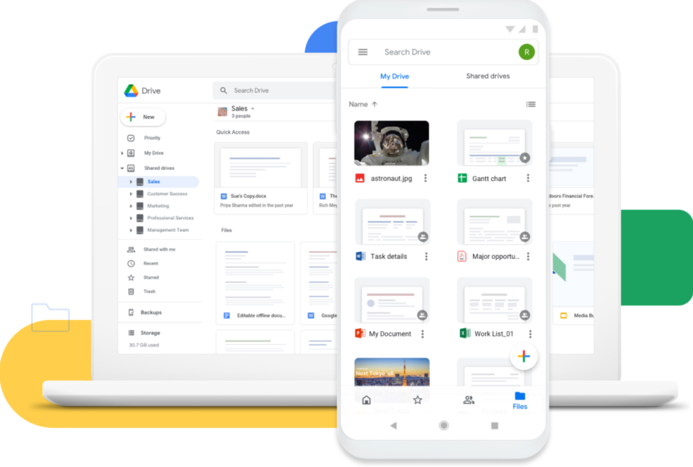 Google Drive spam notifications containing Russian files