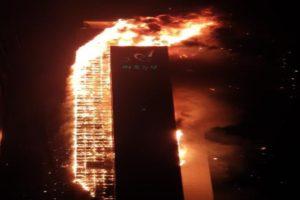 video fire Ulsan South Korea Samhwan Art Nouveau Apartment