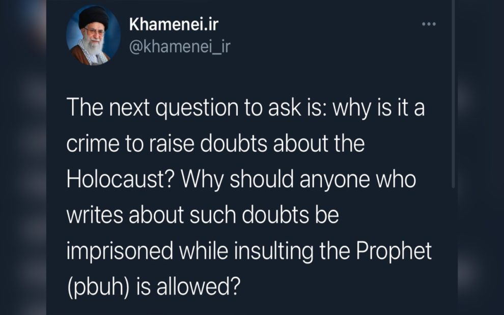 Khamenei questions french youth holocaust crime
