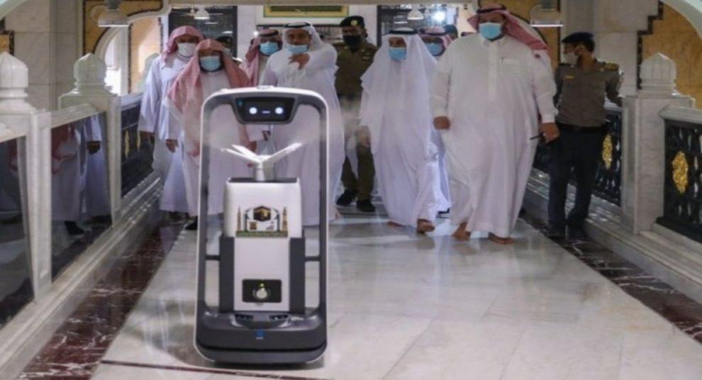 smart robot sterilize Haram Makkah Sheikh Sudais