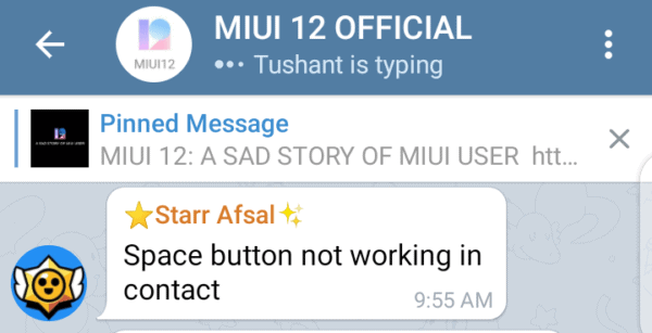 MIUI 12 Keyboard Space Bar Is Not Working In The Contacts App