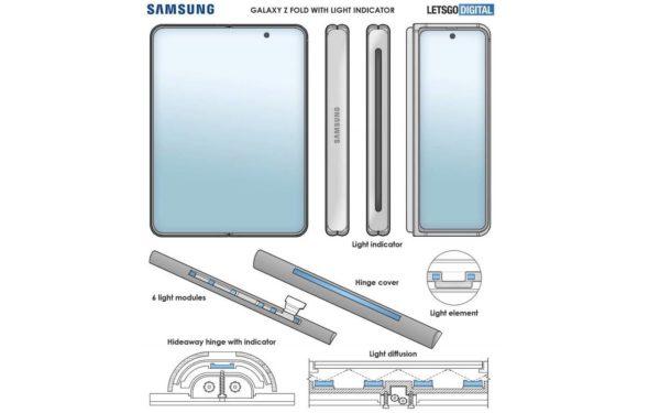 galaxy z fold 3 patent