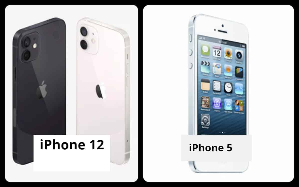 iPhone 12 vs iPhone 5 look design