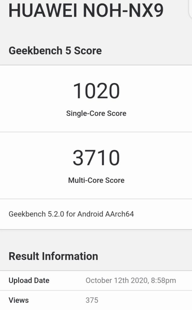 Huawei Mate 40 Processor leak