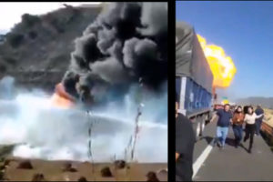 Video: Gas tanker explosion on Nayarit Highway in Mexico