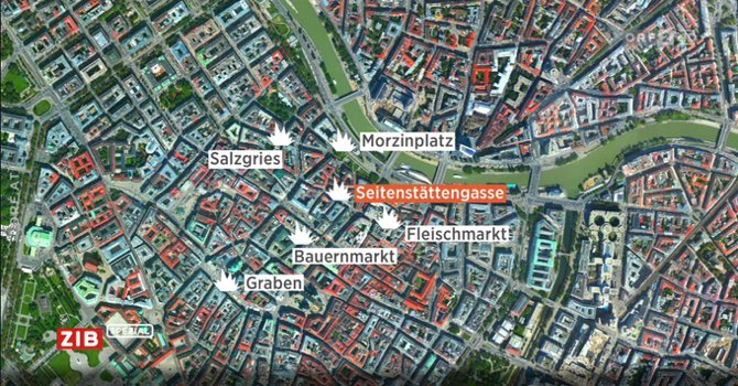 6 locations attacked this evening in Vienna