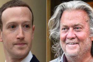 #DeleteFacebook Steve Bannon Suspend Facebook Mark Zuckerberg ban