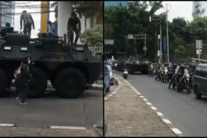 FPI Rizieq Shihab Military tanks Jakarta Indonesia