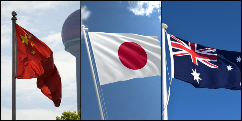 China Japan Australia RCEP world's largest free trade deal
