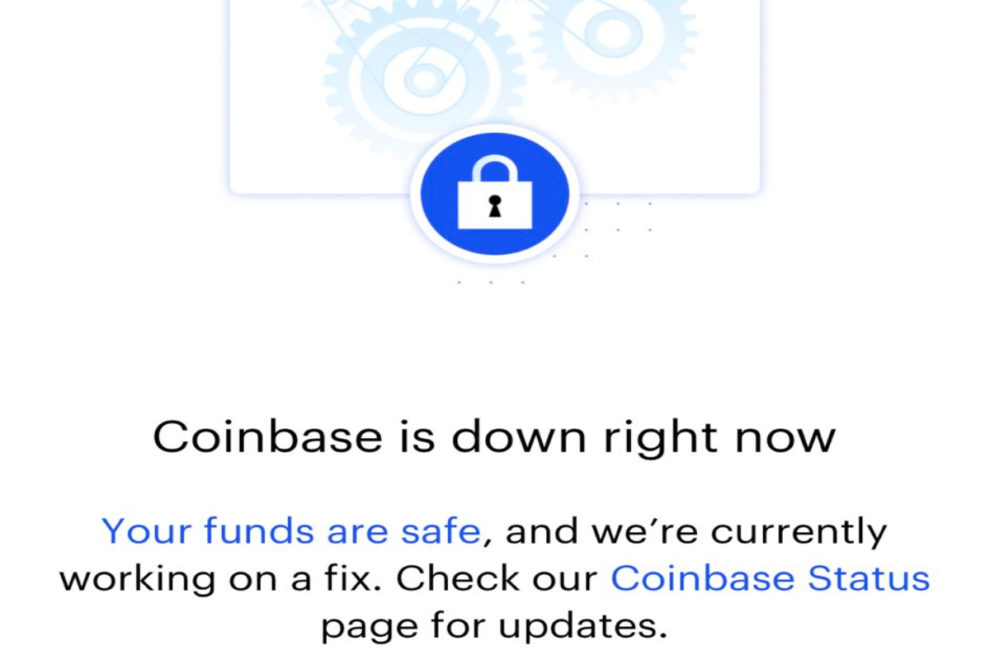 Coinbase down connectivity issues