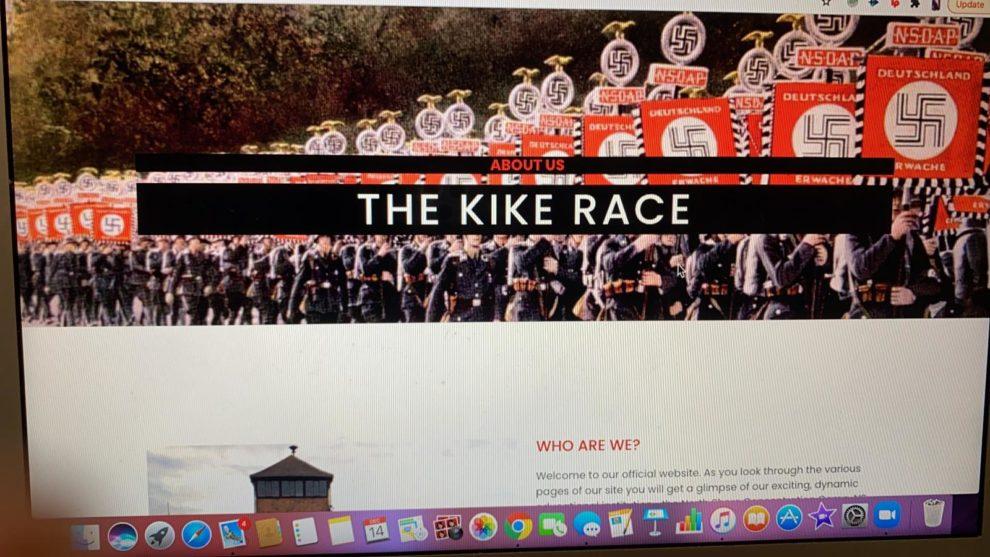 yeshiva high school Great Neck Jewish School website hacked nazi images