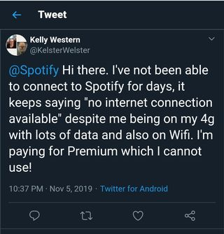 Spotify no internet connection available fix