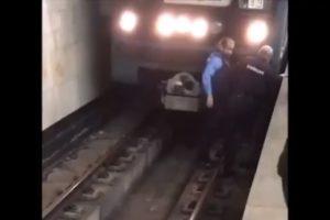 child falls train Babushkinskaya