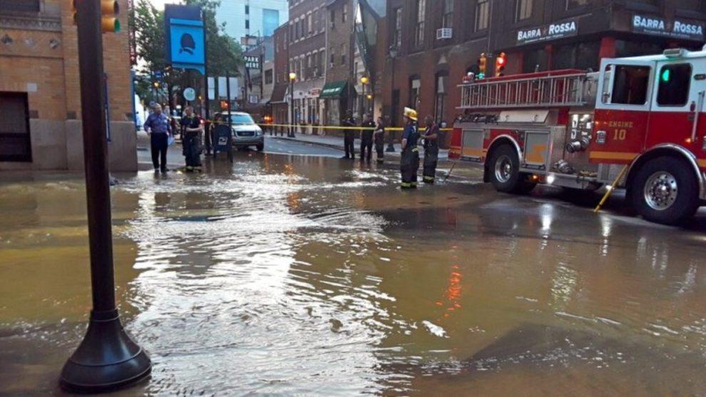 streets flood Philadelphia