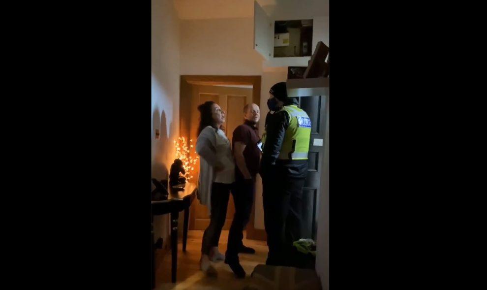 scotland police scottish covid house