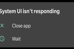 apps not responding issue OnePlus 8 System UI isn't responding