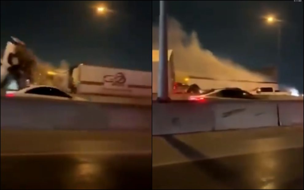 car pile up Fort Worth videos