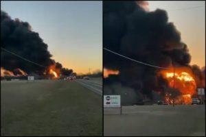 Train collided 18-wheeler Milam County Texas