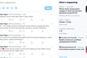 Donald J Trump Twitter top trends President's day