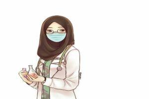 female cartoon characters wear hijab iran