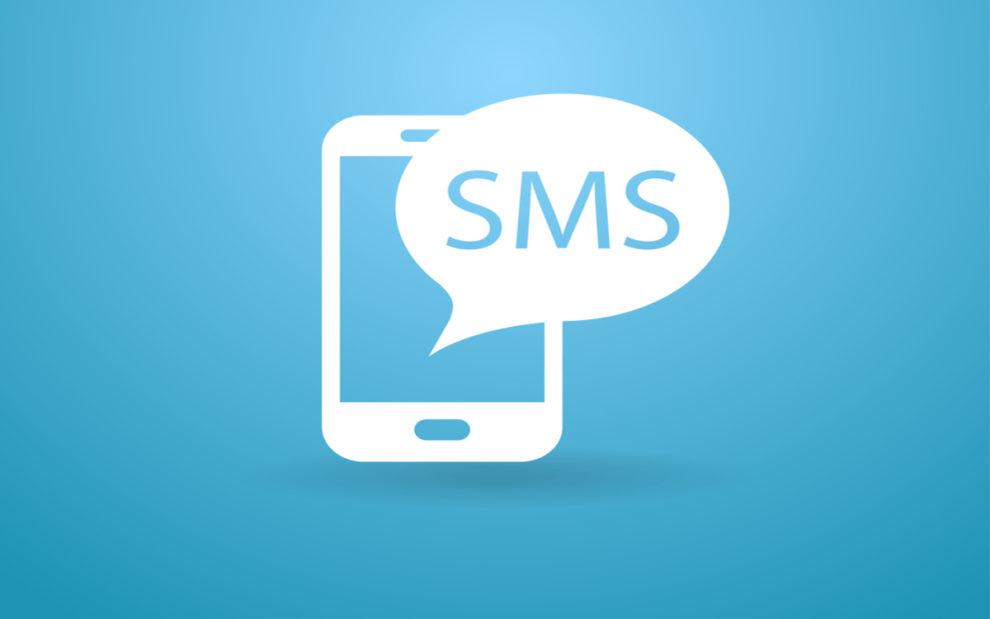 Sent as SMS via server Text receipt