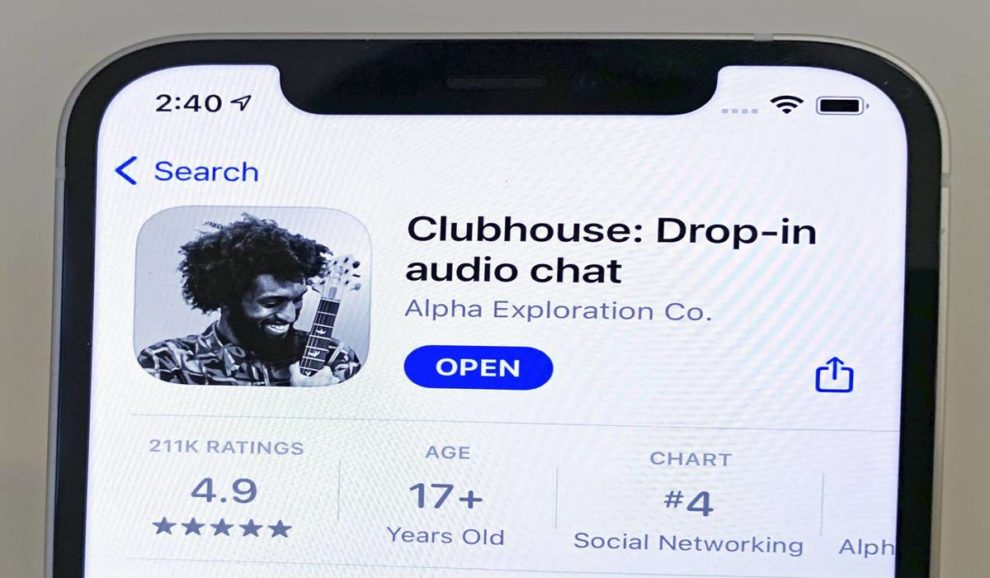 Clubhouse audio chat leaks