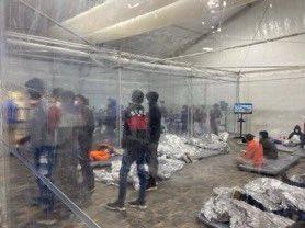 photos migrant tent texas