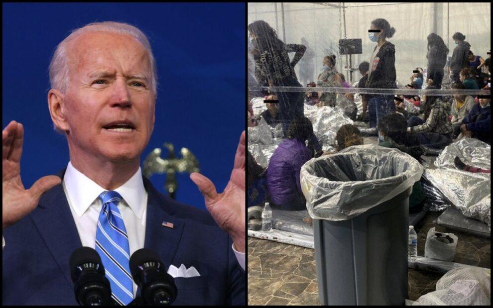 Biden admin video Migrant detention facilities Texas