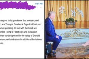 Facebook removes Lara Trump Interview
