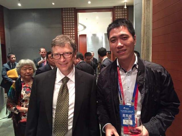 Bill Gates and BGI Co Founder meeting