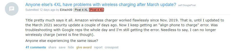 google pixel 5 wireless charging issue